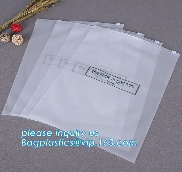 Bottom Gusset Slider Zipper Bags Garment Packaging Pouch Ziplock Swimwear Clothing