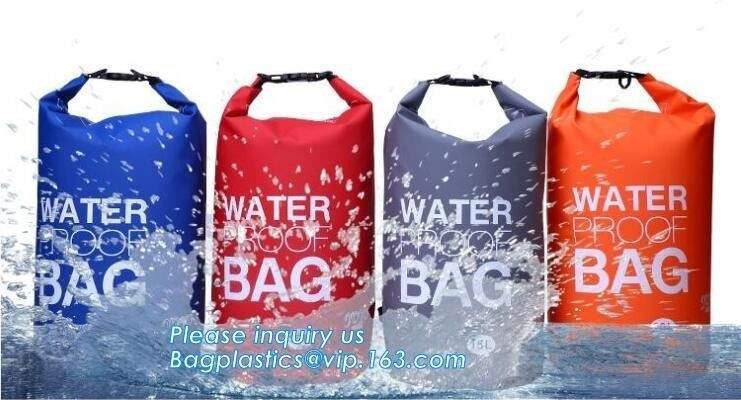 Custom Logo Biodegradable Shopping Bags PVC Tarpaulin Hiking Climbing Portable Foldable