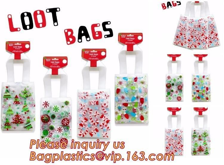 Custom Plastic Biodegradable Disposable Christmas Giant Gift Bag