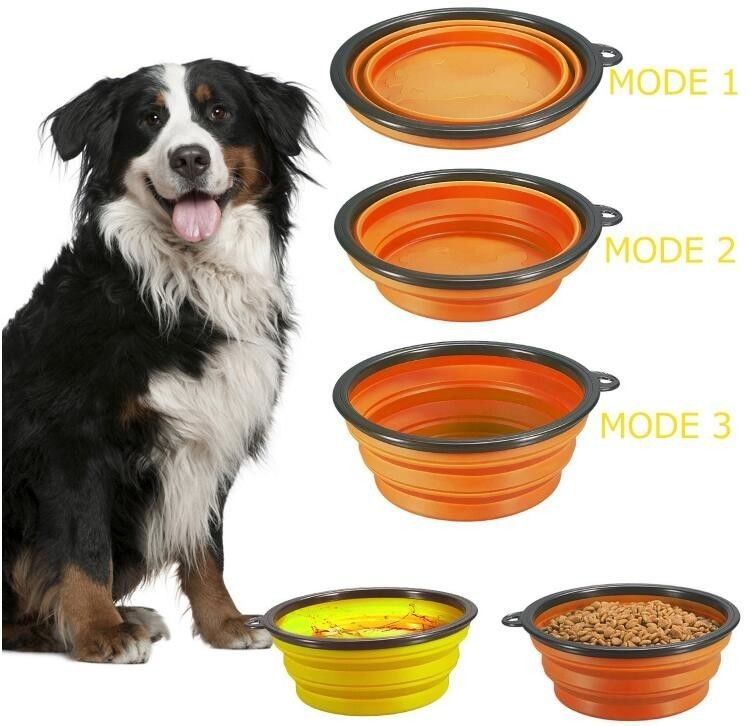 Dog Feeder Eco Friendly Dog Products Food Collapsible Bowl Silicone Travel Pet Water