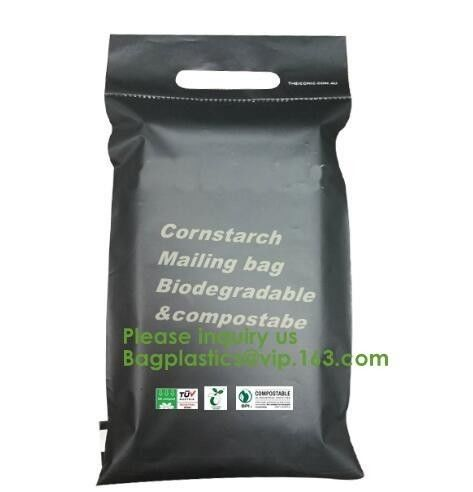 cornstarch made biodegradable custom printed plastic mailing bags,China Supplier Custom biodegradable courier bag biogra