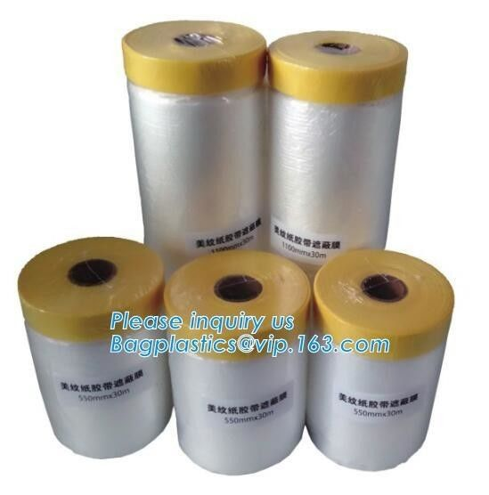 Disposable Plastic Car Seat Covers Self Static Cling Masking Film PE Protection Film With Tape